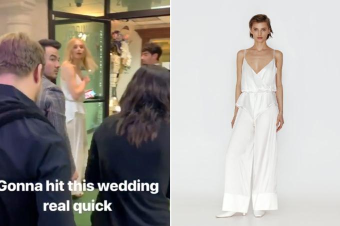 Hình ảnh rõ nét của thiết kế mà Sophie Turner chọn diện trong hôn lễ.