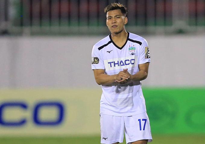 Văn Thanh ra sân khoảng 30 giây ở trận gặp Thanh Hóa và chưa kịp chạm bóng.
