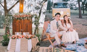 Tiệc cưới rustic trong rừng của cặp Philippines