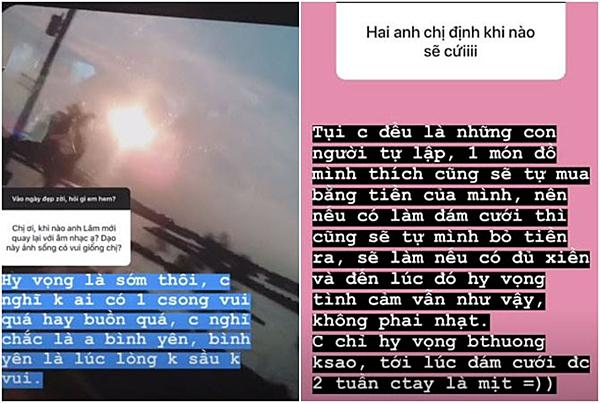 Bạn gái Hoài Lâm trả lời các câu hỏi của fan.