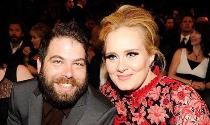 Adele và chồng cũ.