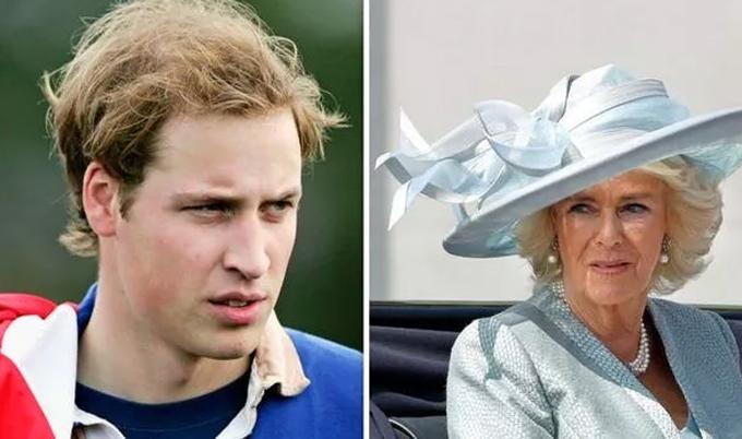 Hoàng tử William (trái) có cuộc nói chuyện riêng kéo dài 30 phút ngay trong lần chạm mặt đầu tiên với bàCamilla (phải). Ảnh: UK Press.