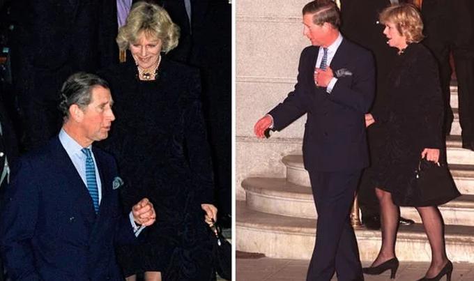 Thái tử Charles và người tình Camilla chưa từng công khai chụp ảnh chung sau ồn ào ngoại tình cho đến năm 1999. Ảnh: UK Press.