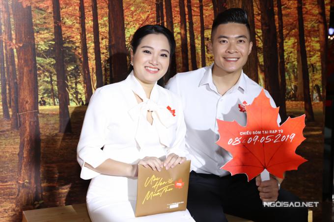 Vợ chồng MC Hồng Phượng - nghệ sĩ xiếc Quốc Cơ hào hứng với tác phẩm điện ảnh mới của đạo diễn Nguyễn Quang Dũng.