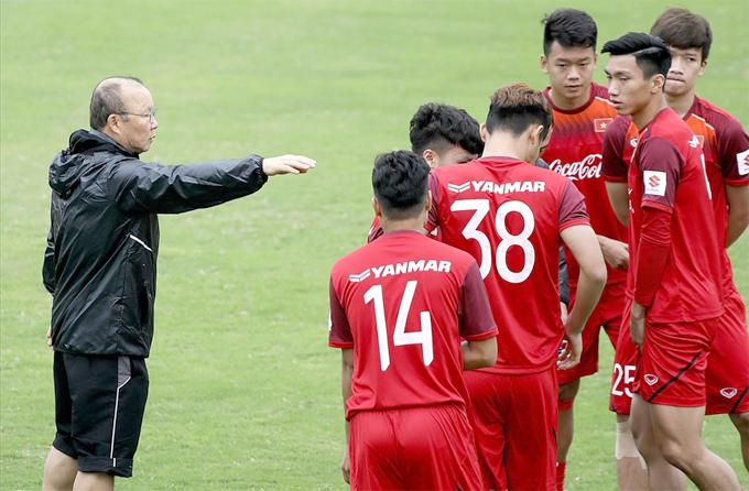 HLV Park dẫn dắt cả U23 và tuyển Việt Nam trong năm 2019.