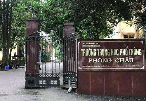 Trường THPT nơi nam sinh Đạt theo học. Ảnh:Văn Thanh.