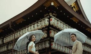 Ảnh cưới ở Nhật Bản của anh chàng bén duyên với 'crush' ở quán trà sữa