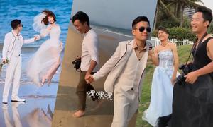 Nhiếp ảnh gia 'diễn sâu' hướng dẫn cô dâu, chú rể tạo dáng