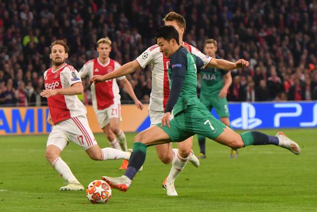 Son trong trận bán kết lượt về gặp Ajax. Ảnh: Yonhap.