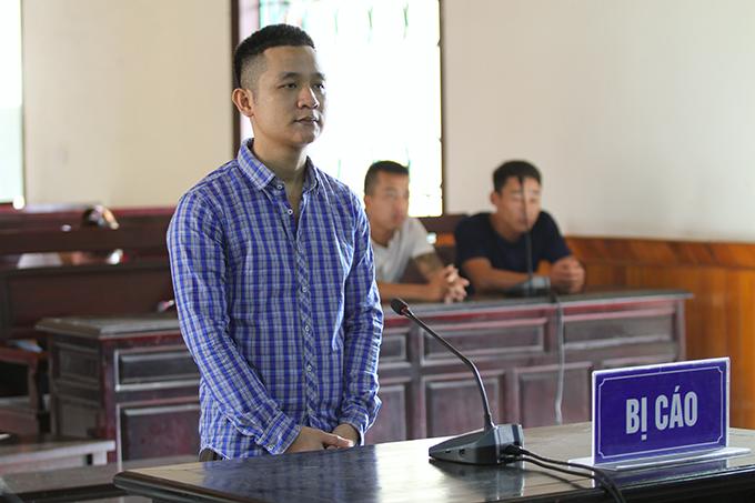 Bị cáo Nguyên tại tòa. Ảnh: Hùng Lê