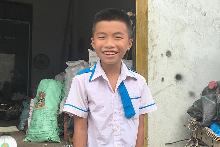 Nguyễn Quang Dũng tại gia đình. Ảnh: PV.