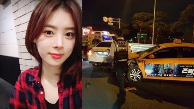 Hiện trường vụ tai nạn thảm khốc khiến Han Ji Seong chết.