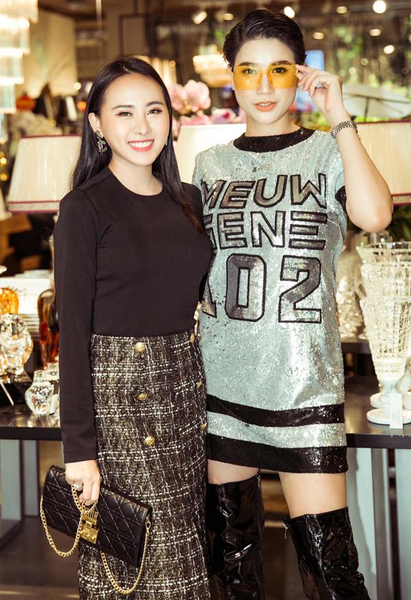 Trang Trần cá tính bên Hoa hậu Doanh nhân Kim Kelly.