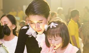Trang Trần đưa con gái đi sự kiện