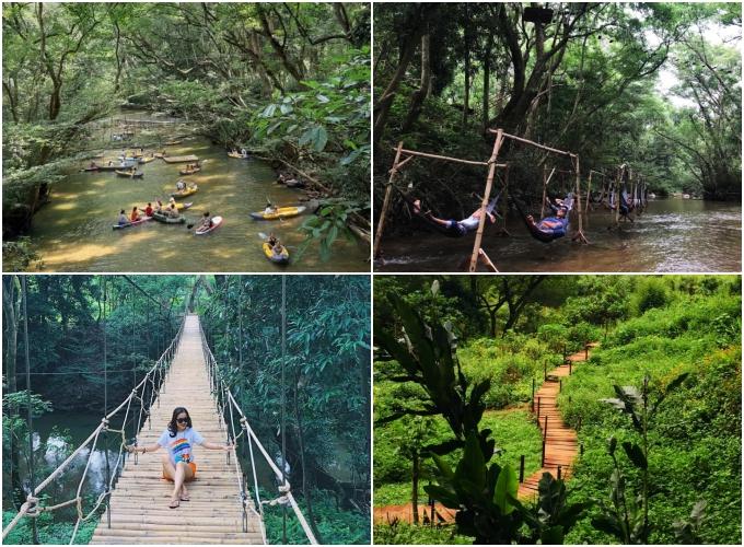 Cắm trại giữa suối ở Quảng Bình - 1