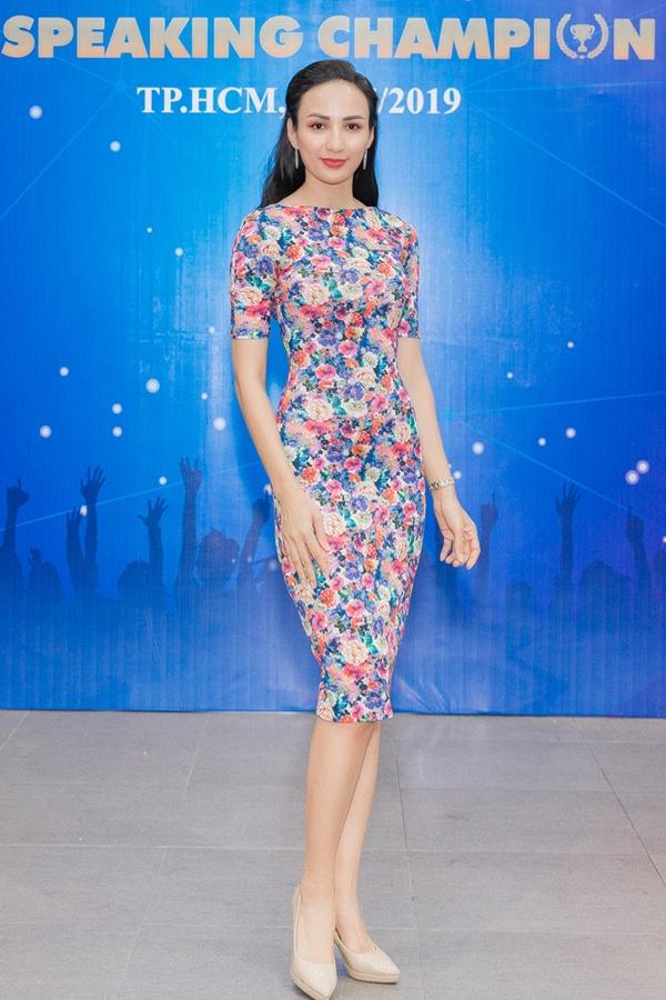 Hoa hậu Ngọc Diễm diện váy ôm khoe đường cong tại chung kết