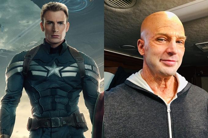 Tạo hình người già của Captain America.