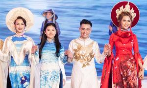 Phan Thị Mơ, Paris Vũ làm vedette diễn áo dài ở Nha Trang