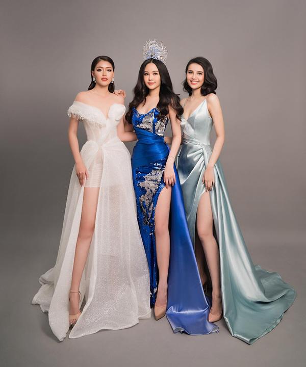 Ngân Anh chụp bộ ảnh cuối cùng trên cương vị Hoa hậu Đại dương 2017 cùng hai Á hậu