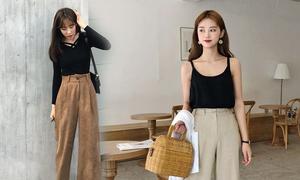 Phối đồ công sở với các kiểu quần suông hợp mốt