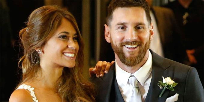 Đám cưới Messi và Antonella Rocuzzo diễn ra hai năm trước.
