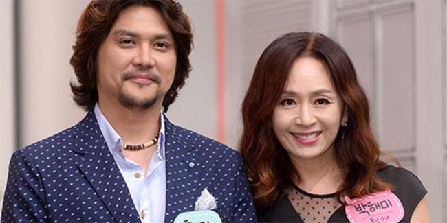 Park Hae Mi và chồng.