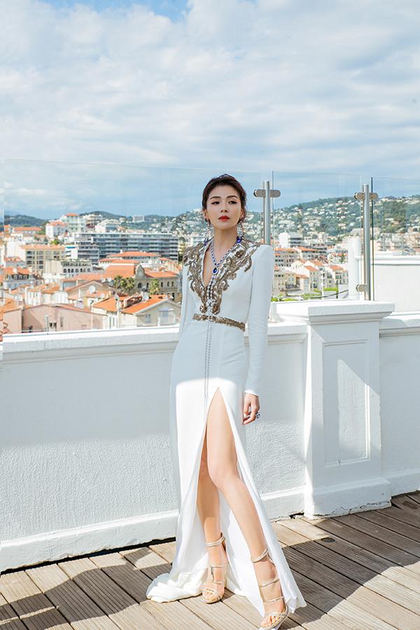 Lưu Đào thả dáng tại Cannes.