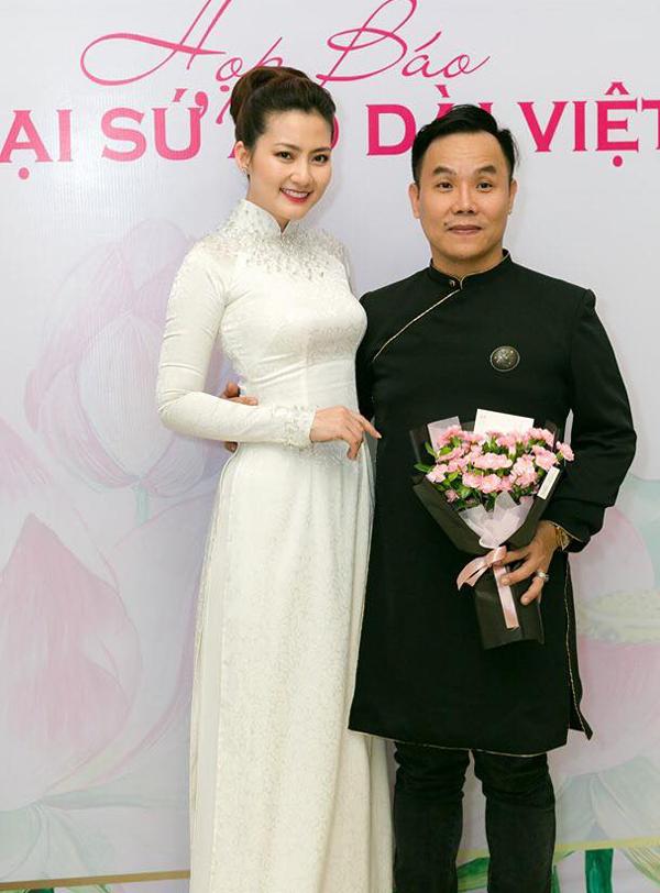 Diễn viên Ngọc Lan ủng hộ cuộc thi ý nghĩa do nhà thiết kế Việt Hùng tổ chức.