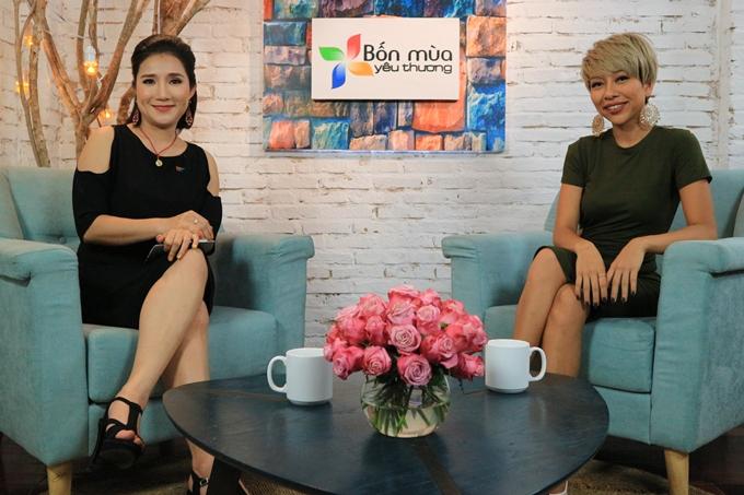 MC Cát Tường và khách mời Thảo Trang.