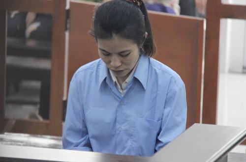 Bị cáo Chi tại phiên tòa.