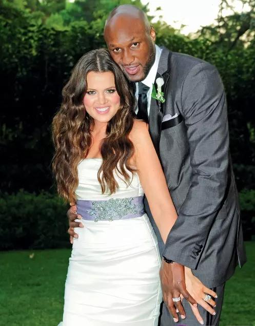 Lamar và Khloe trong đám cưới năm 2009.