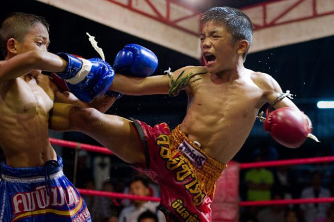 Có khoảng 300.000 trẻ em dưới 15 tuổi thi đấu Muay Thái.