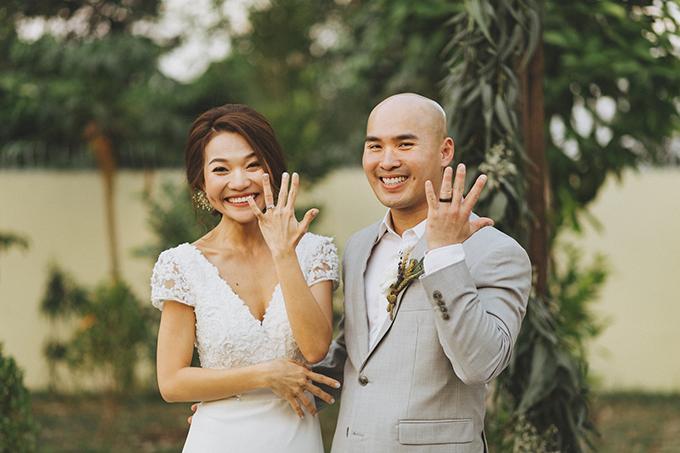 Ngày 26/1, uyên ương đã nên duyên vợ chồng và làm lễ tại sân vườn nhà trai ở Củ Chi.