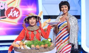 Việt Hương mặc trang phục bánh mì giống H'Hen Niê
