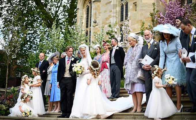 Lady Gabriella Windsor kết hôn hôm 18/5.Ảnh: PA.