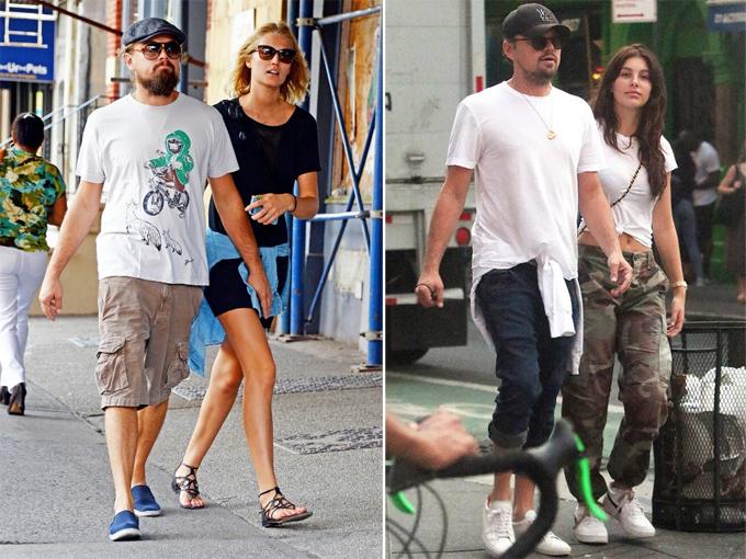 Leonardo DiCaprio bên Toni năm 2013 và bên Camila năm 2018.