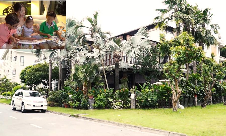 Hà Kiều Anh vun vén tổ ấm trong biệt thự 450 m2