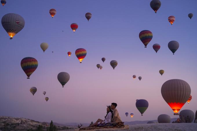 Thời gian đẹp để đến Thổ Nhĩ Kỳ là các tháng mùa xuân hoặc mùa thu có thời tiết mát mẻ. Bộ hình do nhiếp ảnh gia lên ý tưởng, thực hiện vào tháng 11/2018.