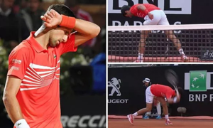 Djokovic đập vợt trong trận thua Nadal