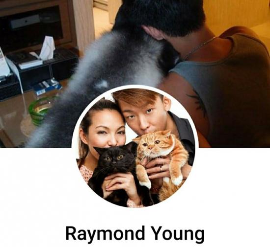 Raymond để ảnh hai vợ chồng bên nhau trên Facebook.