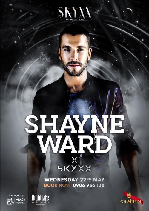 Đại diện nhà hàng Skyxx (quận 1, TP HCM) thông báo Shayne Ward sẽ có mặt tại sự kiện đặc biệt vào 22/5. Trong đêm nhạc, anh sẽ biểu diễn nhiều ca khúc như About you know, Until you, Apologize...