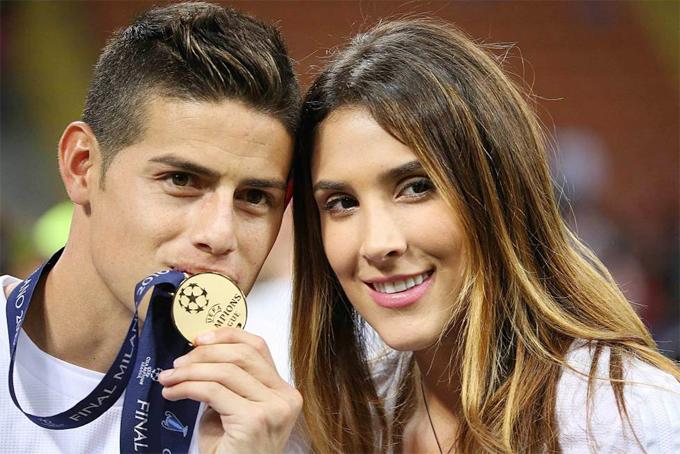 James Rodriguez và vợ cũ Daniela Ospina