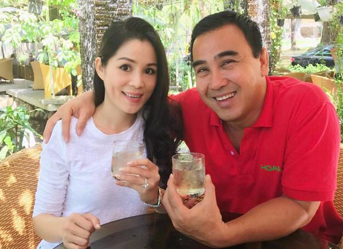 Vợ chồng MC Quyền Linh.