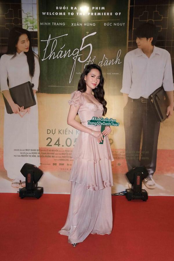 Diễn viên gốc Bắc Minh Trang đóng chính phim Tháng 5 để dành. Cô từng quen mặt qua MV Thương em là điều anh không thể ngờ của Noo Phước Thịnh và nhiều MV khác.