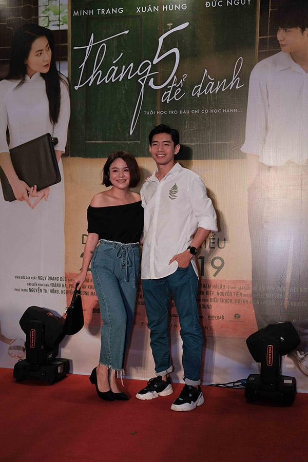 Buổi công chiếu phim còn có sự góp mặt của cặp đôi ca sĩ Thái Trinh - vũ công Quang Đăng.