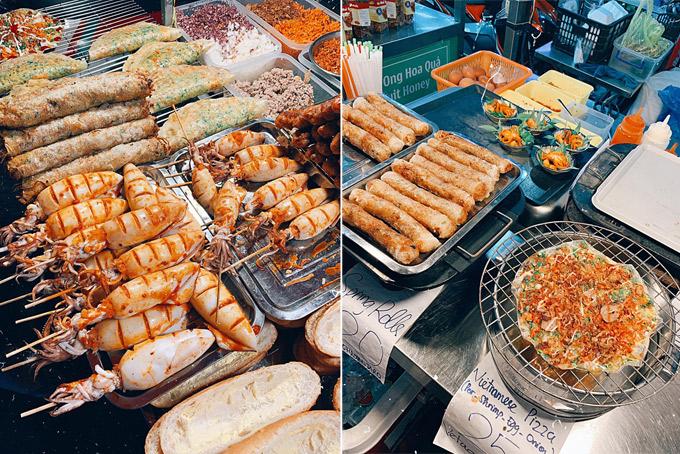 Điểm cuối cùng My ghé qua là chợ đêm Phú Quốc. Nơi đây có rất nhiều đồ ăn vặt cũng như các nhà hàng hải sản. Tất cả đều tươi ngon. Chỉ cần ăn mấy món đặc sản ở đây đủ no mà theo My, giá cả lại hạt dẻ.