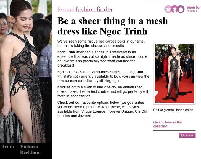 Thông tin mô tả diện mạo của người đẹp Việt.