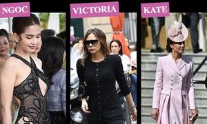 Báo Anh chế giễu Ngọc Trinh dù xếp cô cạnh Kate và Vic