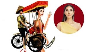 Ý tưởng trang phục dân tộc cho Hoàng Thuỳ thi Miss Universe