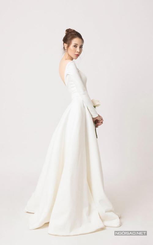 Đàm Thu Trang diện váy phong cách thập niên 1960 chụp ảnh cưới - 2